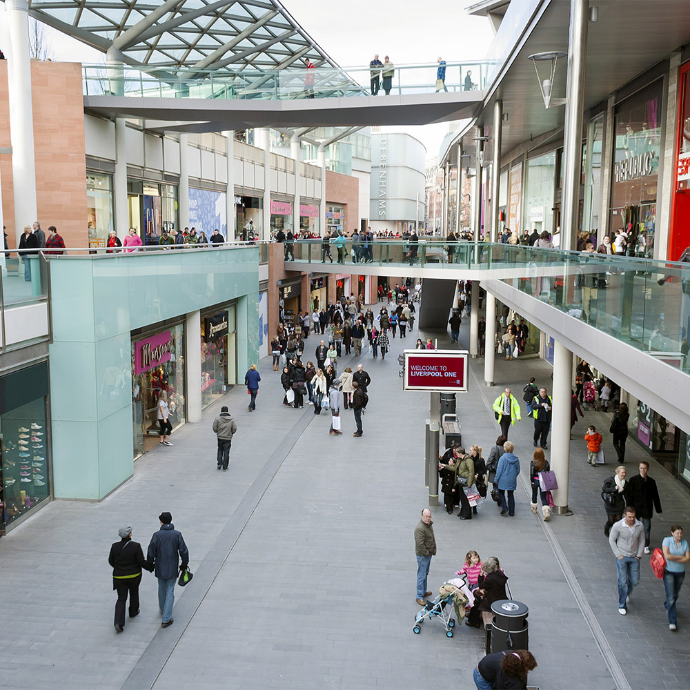 A busy morning at Liverpool One shopping centre